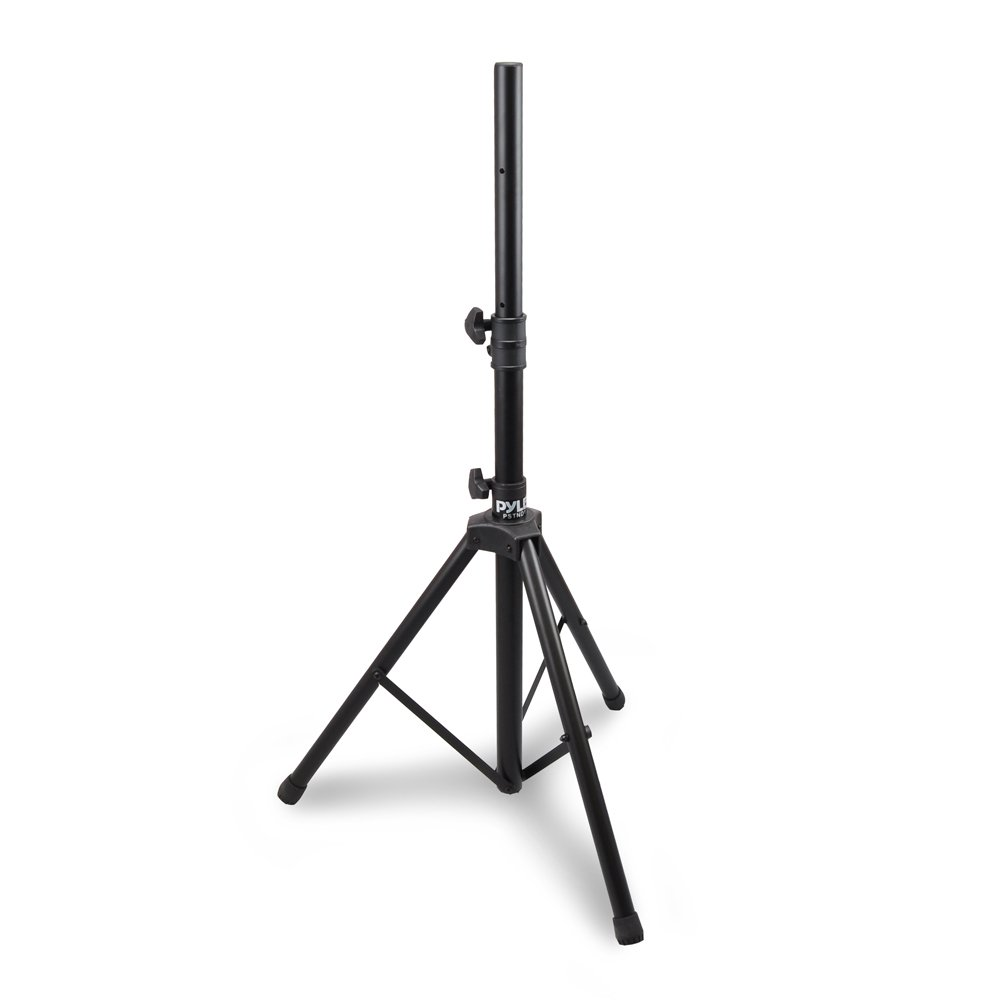 Universal Speaker Stand Mount Holder - Heavy Duty Rubber Capped Tripod w/ Adjustable Height from 59.1'' to 82.7'' Locking Safety PIN & 35mm Compatible Insert On-Stage or In-Studio Use - Pyle PSTND1 by Pyle