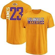 Majestic Lebron James Los Angeles Lakers #23 Men's Vertical Player T-Shirt