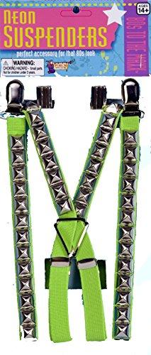 (Forum Novelties F64533 Studded Punk Suspenders Neon Green)
