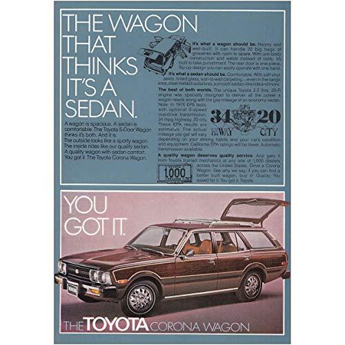 RelicPaper 1977 Toyota Corona Wagon: The Wagon That Thinks, Toyota Print Ad