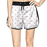 ZKDFOSPCCL Women's Beautiful Red Bowknot Beach Shorts