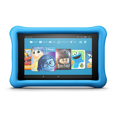 "Electronics : Fire HD 8 Kids Edition Tablet, 8"" HD Display, 32 GB, Blue Kid-Proof Case"