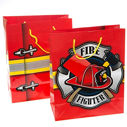 Firehouse Fireman Firefighter Gift Bags