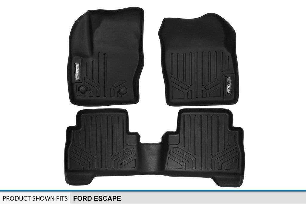 Black C-Max 2013-2016 Complete Set 2013-2017 MAXLINER A0115//B0115 Floor Mats for Ford Escape