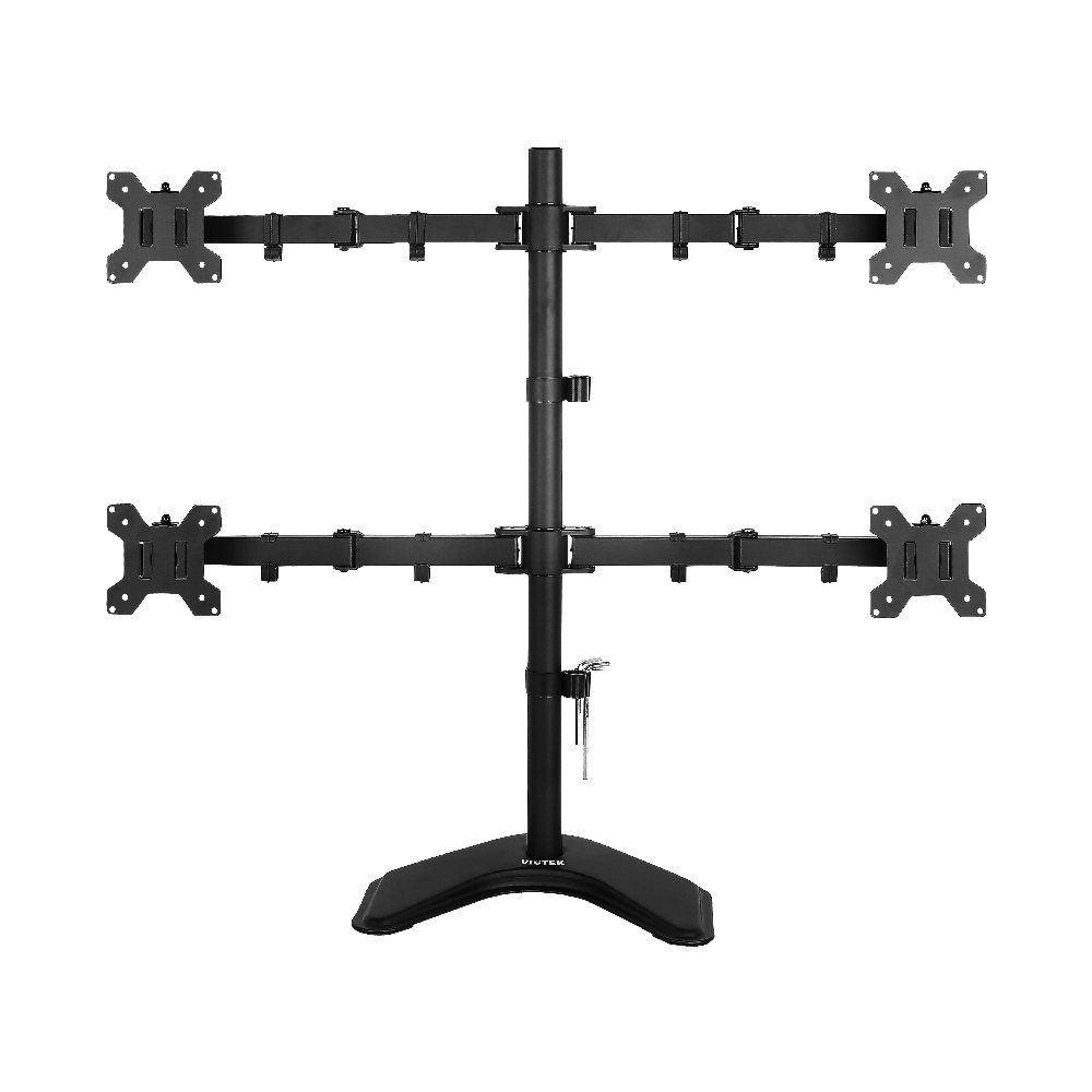 Viotek Articulating Quad 4-Monitor Stand with Adjustable Height -Monitor Arm with Vesa Mount fits up to 4 screens.