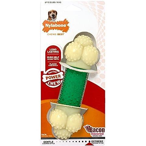 Nylabone Dura Chew Wolf Bacon Flavored Double Action Bone Dog Chew Toy - Dura Chew Plus Bone