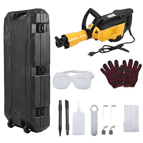 Homgrace 3600W Electric Demolition Hammer, Heavy Duty Jack Hammer Concrete Breaker w/Case (3600 W, (Power Chipping Hammer)