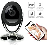 Etration Smart Home Security Camera, Wireless Indoor Security IP Camera, Nanny Cam, Baby Camera,HD 720P WIFI Surveillance Camera with Night Vision Two Way Audio Motion Detection, Pet Monitor