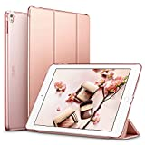 ESR Yippee Trifold Smart Case for iPad Pro 9.7, Lightweight Smart Cover with Auto Sleep/Wake, Microfiber Lining, Hard Back Cover for iPad Pro 9.7(Released in 2017), Rose Gold