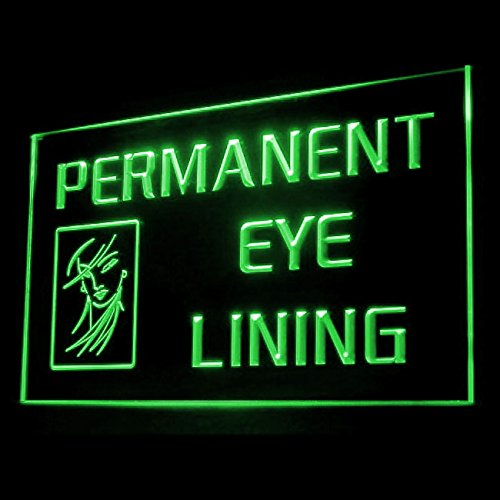 Permanent Eye Lining Eyebrows Long-lasting Natural Pretty LED Light Sign 160064 Color Green
