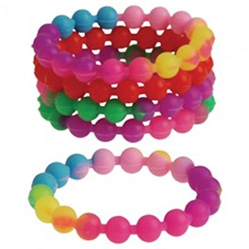Rainbow Stretchy Bead Bracelets
