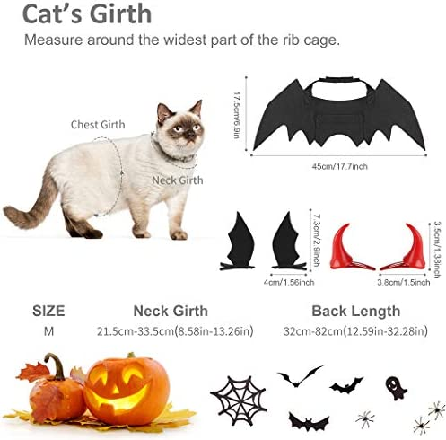 Legendog Cat Costume Halloween Bat Wings Pet Costumes Pet Apparel for Small Dogs and Cats (Bat Wings) 30