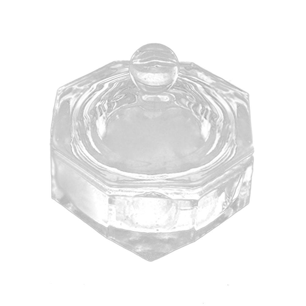 Walmeck Nail Art Tool Crystal Glass Dappen Dish Cup Nail Art Acrylic Liquid Powder