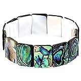 Falari Abalone Stretch Elastic Bracelet Rectangle