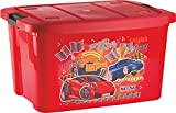 Nayasa Plastic Deluxe Big Toy Box Red 50Ltr