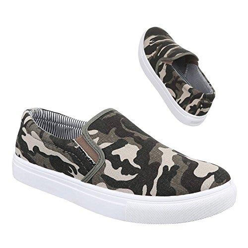 Ital-Design - Zapatos Hombre Marrón - caqui
