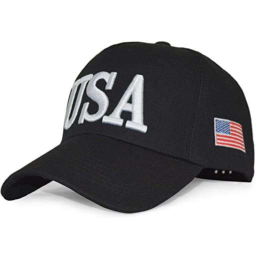 01c5a7c433e DISHIXIAO USA Baseball Cap Polo Style Adjustable Embroidered Dad Hat  American Flag for Men and Women