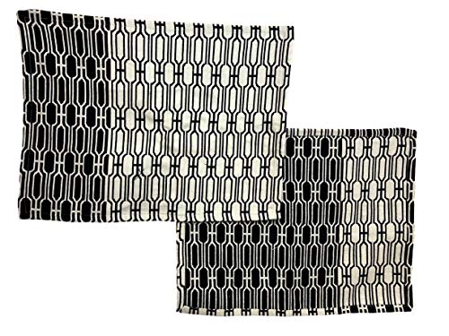 TAG Black and Natural Woven Placemat, Set of 4