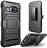 galaxy s1 cover - Samsung Galaxy S7 Edge Phone Case , [ Storm Buy ] Premium Hard & Soft Sturdy Durable Shockproof Rugged Shell Hybrid Protective [ Anti Scratch ] Phone Case Cover with Built in Kickstand (Holster Black)