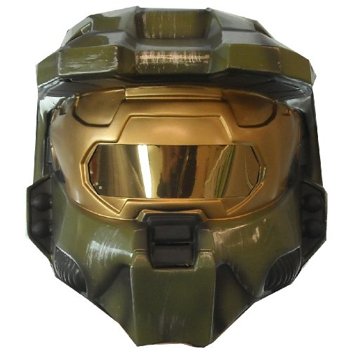 Halo 3 Master Chief Adult Costumes - Halo 3 Master Chief Deluxe Two-Piece Mask
