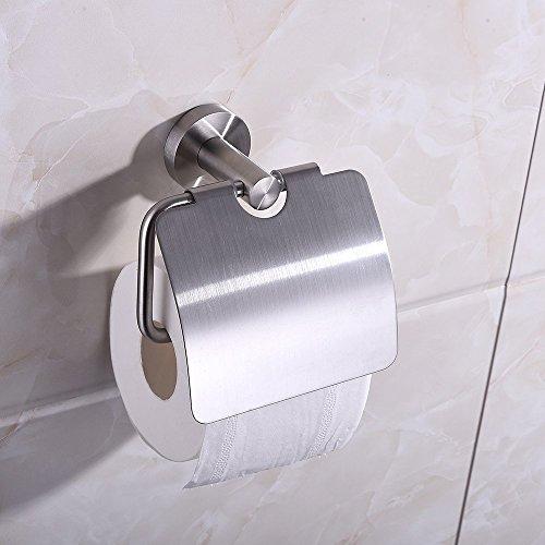 Homgeek Wall Mounted Stainless Steel Toilet Paper Holder ...