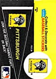 1986 Fleer Team Stickers Baseball #NNO Pennant Pittsburgh Pirates Deacon Phillippe Famous Feats Official MLB Trading Card Standard Trading Card Sized Sticker