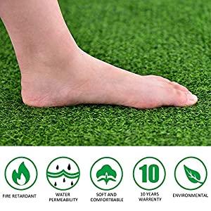Realistic Artificial Grass Mat,Synthetic Grass Turf,Indoor Outdoor Garden Artificial Grass Turf Lawn Landscape for Pets…