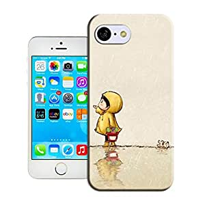 DIY ARTICLE?064.The little girl in the rain (1)Custom Unique Plastic Case Creative Art Pattern Cell Phone Case For Iphone5C