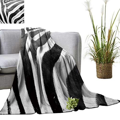 YOYI Warm Blanket Zebra Skin Winter Lightweight Thermal Blankets for Couch Bed Sofa 30