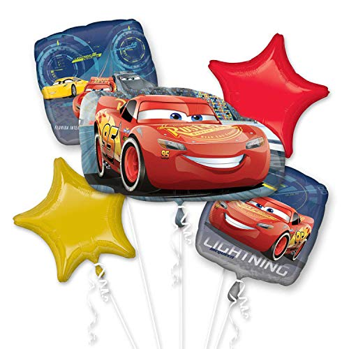 Disney Cars Balloons (Anagram International Bouquet Cars 3 Lightning)