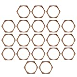 20 Pcs 3/4'' Copper BSPT Pipe Thread Hexagonal Nut Tube Connector Fixing Joint