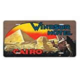 Style in Print Windsor hotel Cairo Old Travel Poster Car Aluminum License Plate