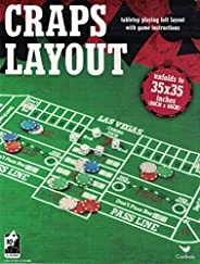 Craps tabletop playing felt layout