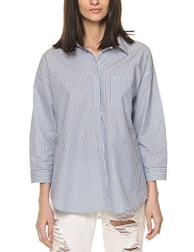 Blue In White Women's Shirt Glamorous Stripped Stripe xtwIqFCOC