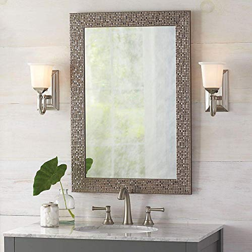 (Home Decorators Collection 81159 24 in. W x 35 in. L Framed Fog Free Wall Mirror in Silver)