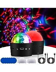 Discobol licht geactiveerd stroboscoop podium disco feestverlichting voor verjaardag