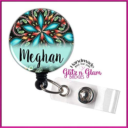 Amazon com: Retractable Badge Holder Reel, Personalized Name
