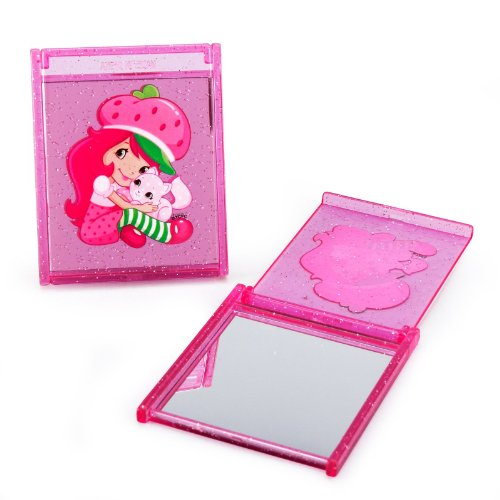 amscan Delightful Strawberry Shortcake Compact Mirror Birthday Party Favors (4 Pack), 2 7/8