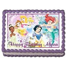 Disney Princess #6 Edible Frosting Sheet Cake Topper - 1/4 Sheet