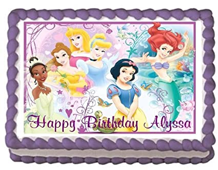 Amazon Disney Princess 6 Edible Frosting Sheet Cake Topper