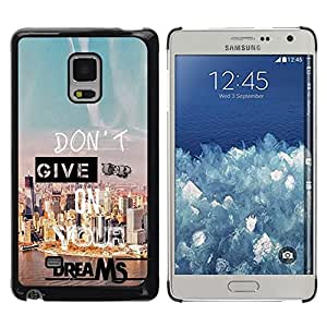 Design for Girls Plastic Cover Case FOR Samsung Galaxy Mega 5.8 Give Up Dreams Motivational Quote Success OBBA