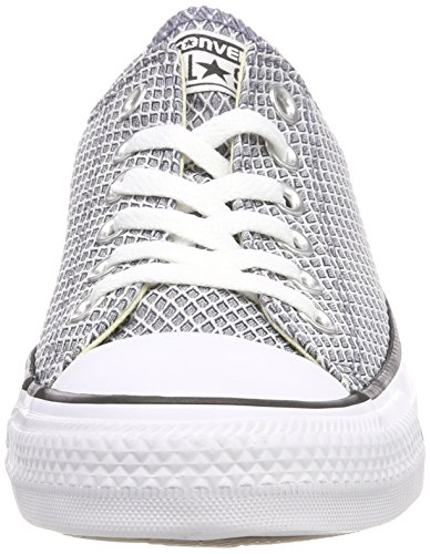 Converse Ctas Ox Light Carbon/White/Natural, Baskets Mixte Adulte Grau (Light Carbon/White/Natural)