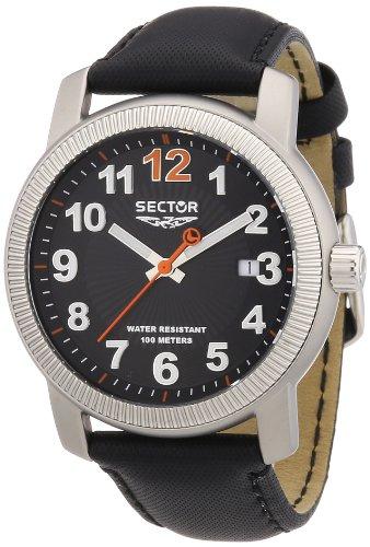 Sector Men's R3251139025 500 Analog Display Quartz Black Watch