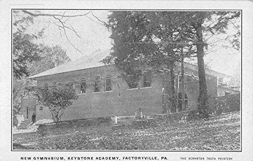 Factoryville Pennsylvania Keystone Academy New Gym Antique Postcard K43454