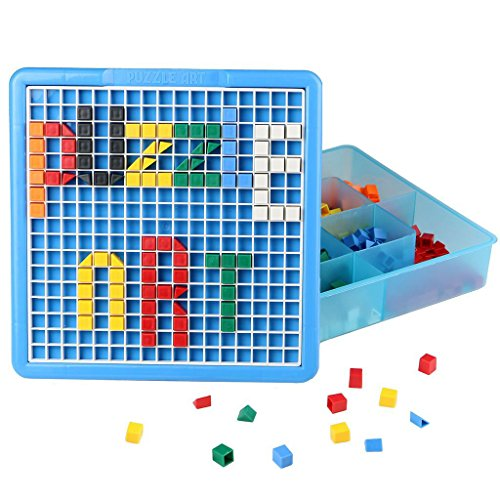Mosaic Puzzle Intellect Toy Pegboard Jigsaw Puzzle Block ...