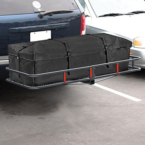 "ARKSEN 60"" x 25"" inch Cargo Hauler Carrier Hitch Mounted Luggage Basket with Cargo Bag Combo 2"" Receiver Camping RV SUV"