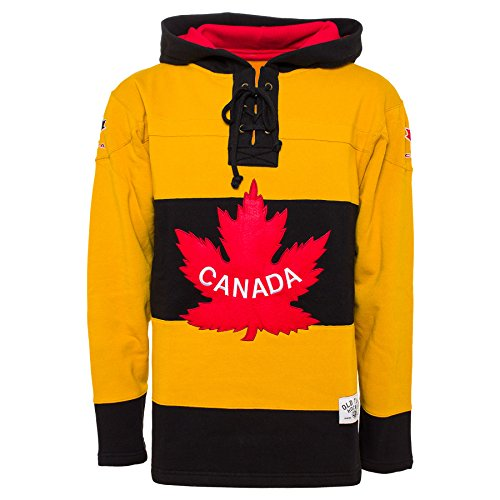 Old Time Hockey Team Canada 1920 Heavyweight Jersey Lace Hoodie - (Team Canada Hockey Jerseys)