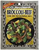 Kikkoman Stir Fry Seasoning Mix, Broccoli and Beef, 1-Ounce Packet (Pack of 24)