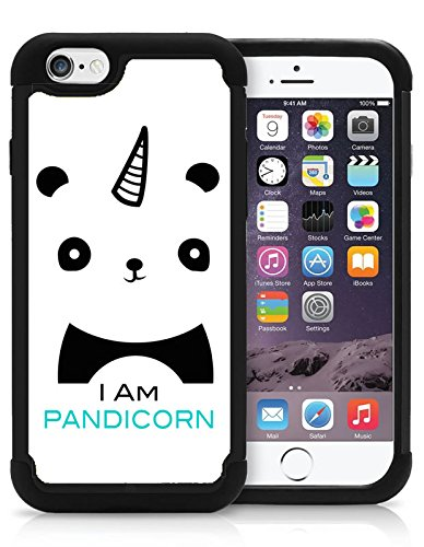 Iam Pandicorn Cute Panda Hipster Love Animal Cool Funny Iphone 5C Case Cover Protective Hybrid Bumper Case With Drop Protection Dual Layer