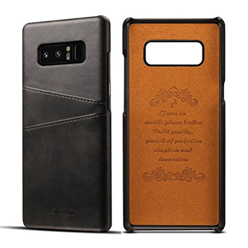 For Samsung Galaxy Note 8 Case, Iusun Premium Leather Card Slots BackCover Protective Cover For Samsung Galaxy Note 8 (Black, Samsung Galaxy Note 8)
